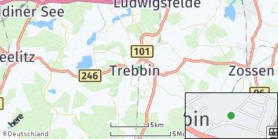Google Map of Trebbin