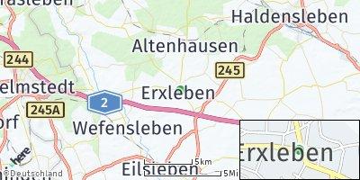 Google Map of Erxleben bei Haldensleben