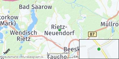 Google Map of Rietz-Neuendorf