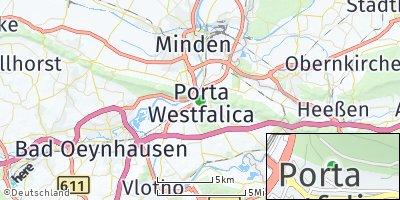 Google Map of Porta Westfalica