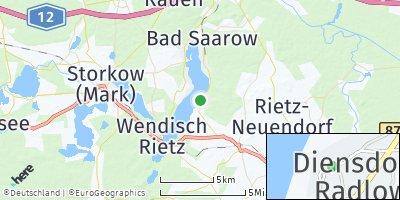 Google Map of Diensdorf-Radlow