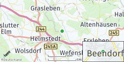 Google Map of Beendorf bei Haldensleben