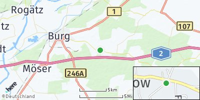 Google Map of Grabow bei Burg