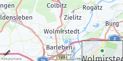 Google Map of Wolmirstedt