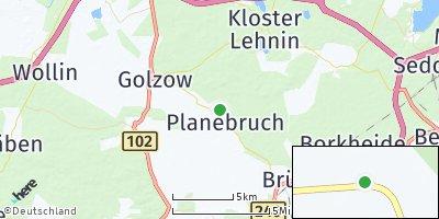 Google Map of Planebruch
