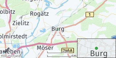Google Map of Burg bei Magdeburg