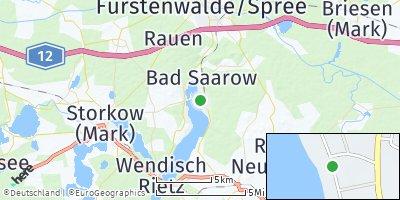 Google Map of Bad Saarow