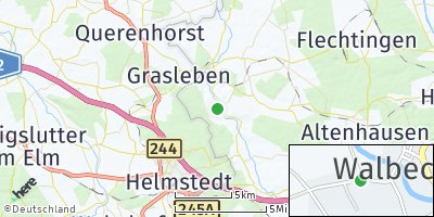 Google Map of Walbeck bei Haldensleben