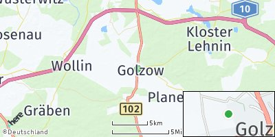 Google Map of Golzow