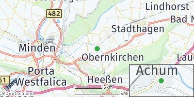 Google Map of Achum