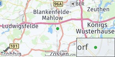 Google Map of Rangsdorf