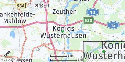 Google Map of Königs Wusterhausen