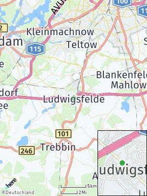 Here Map of Ludwigsfelde
