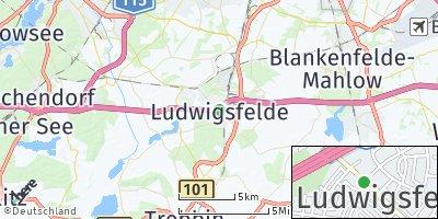Google Map of Ludwigsfelde