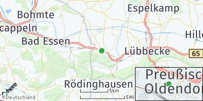 Google Map of Preußisch Oldendorf