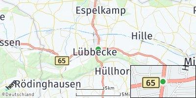 Google Map of Lübbecke