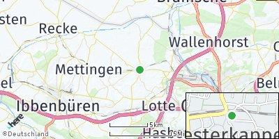 Google Map of Westerkappeln