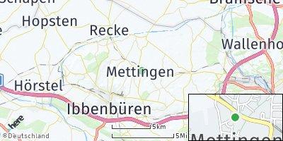 Google Map of Mettingen
