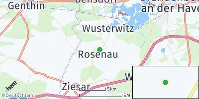 Google Map of Rosenau bei Wusterwitz
