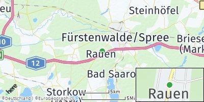 Google Map of Rauen bei Fürstenwalde