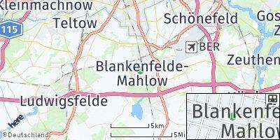 Google Map of Blankenfelde-Mahlow