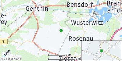 Google Map of Karow bei Genthin