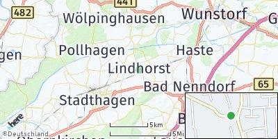 Google Map of Lindhorst bei Stadthagen