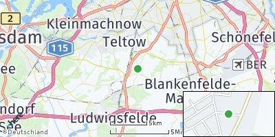 Google Map of Großbeeren