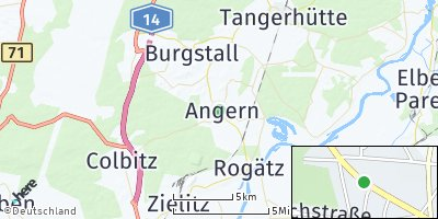 Google Map of Angern bei Wolmirstedt