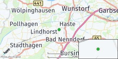 Google Map of Hohnhorst bei Wunstorf