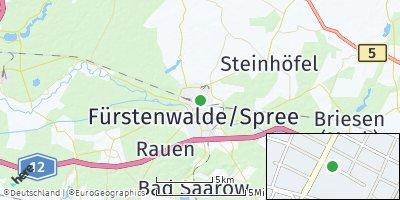 Google Map of Fürstenwalde / Spree