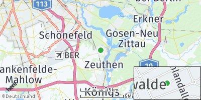 Google Map of Eichwalde