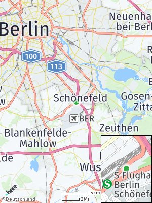 Here Map of Schönefeld bei Berlin