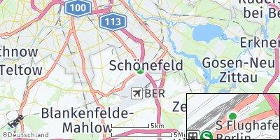 Google Map of Schönefeld bei Berlin