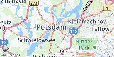 Google Map of Potsdam