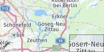 Google Map of Gosen-Neu Zittau