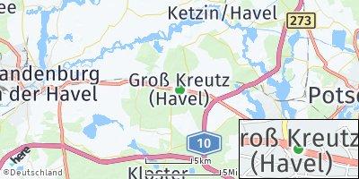 Google Map of Groß Kreutz