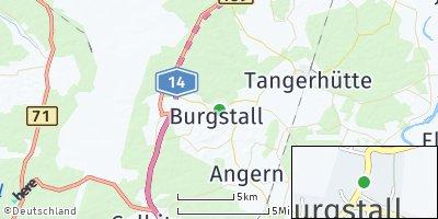 Google Map of Burgstall bei Tangerhütte