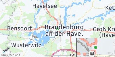 Google Map of Brandenburg an der Havel