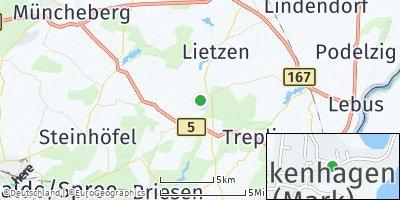 Google Map of Falkenhagen