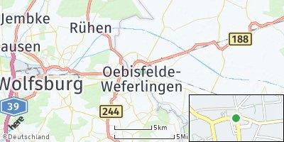 Google Map of Oebisfelde-Weferlingen