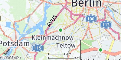 Google Map of Zehlendorf