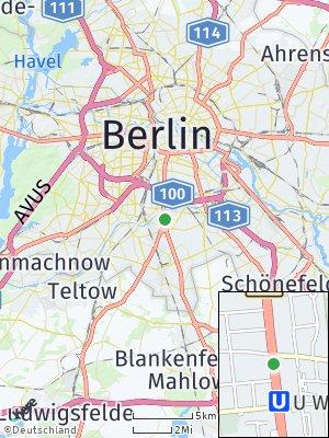 Here Map of Tempelhof-Schöneberg