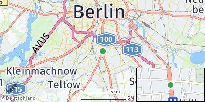 Google Map of Tempelhof-Schöneberg