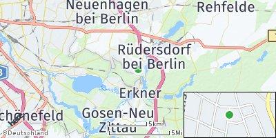 Google Map of Woltersdorf bei Erkner