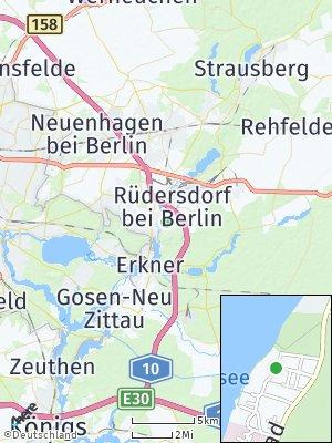 Here Map of Rüdersdorf bei Berlin