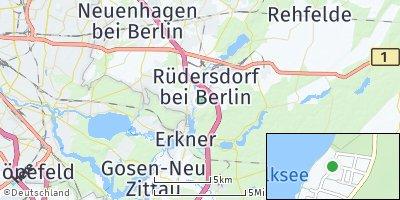 Google Map of Rüdersdorf bei Berlin