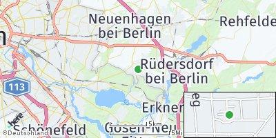Google Map of Schöneiche bei Berlin