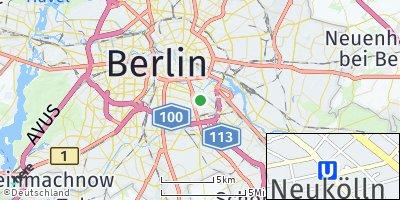 Google Map of Neukölln
