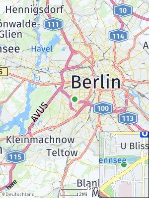 Here Map of Wilmersdorf
